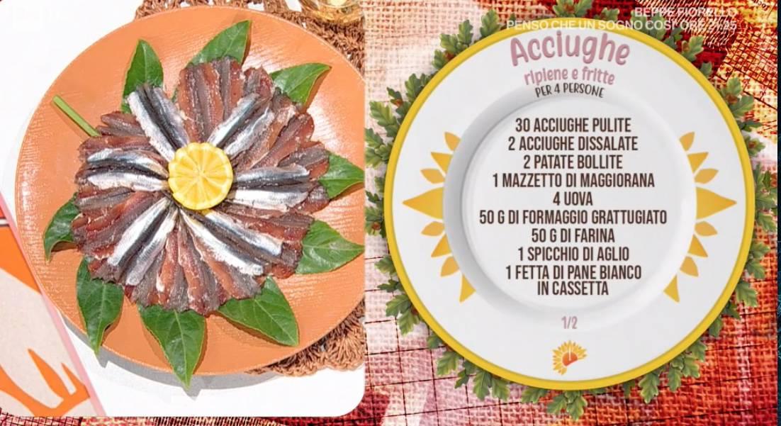 Acciughe ripiene e fritte di Ivano Ricchebono, le ricette E' sempre mezzogiorno