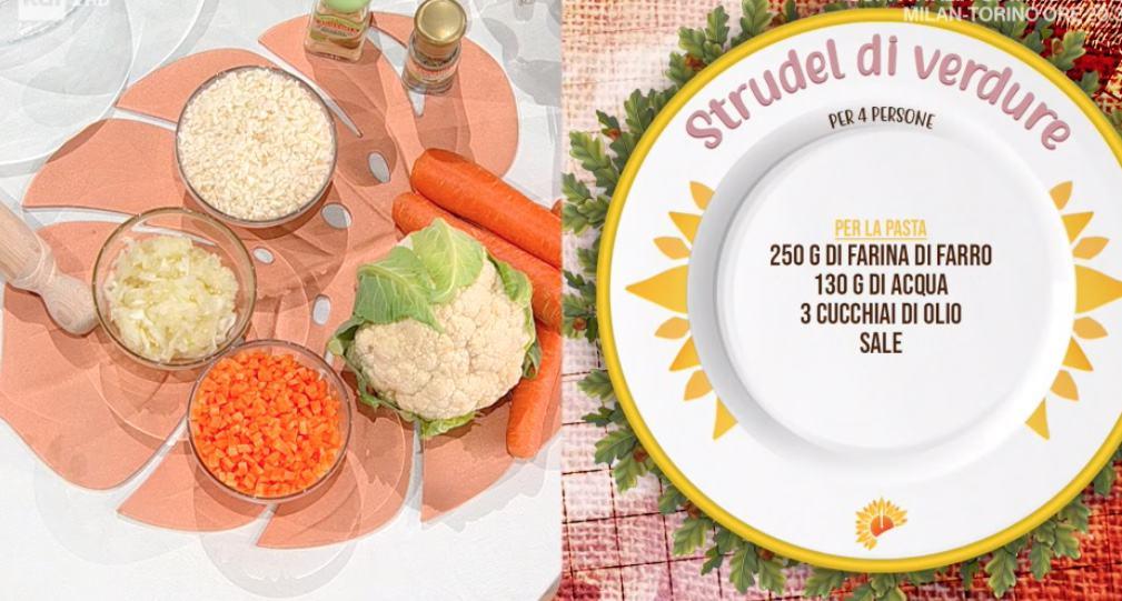 Strudel di verdure di zia Cri, la ricetta di oggi E' sempre mezzogiorno
