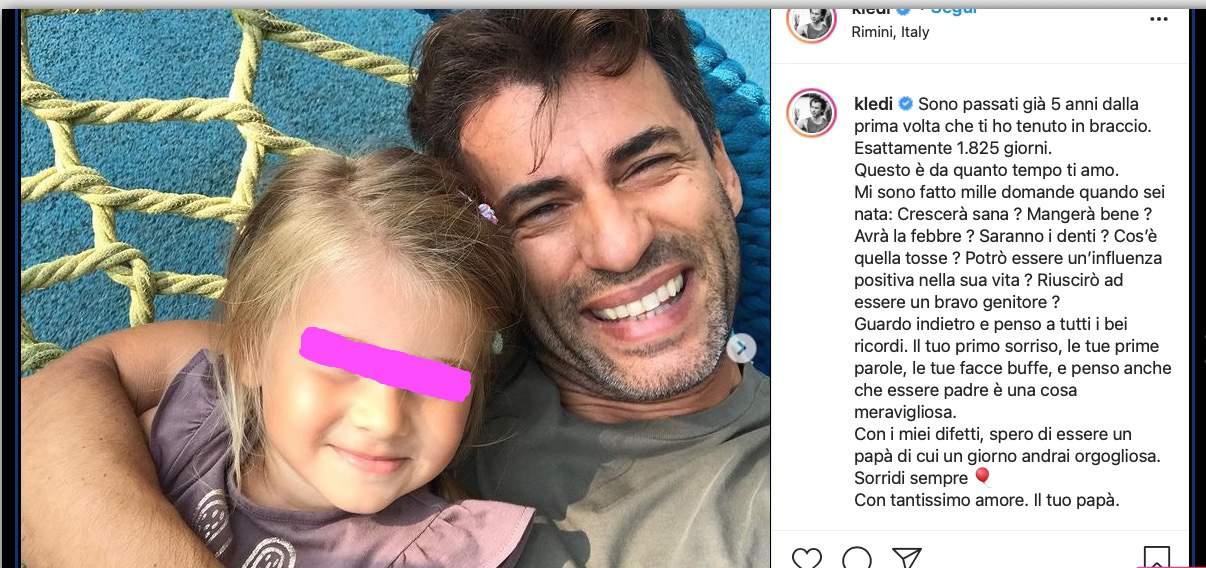 """La lettera di Kledi Kadiu alla figlia: """"Da quanto tempo ti amo"""" (Foto)"""