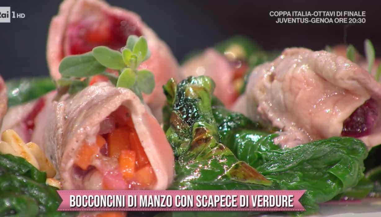 Bocconcini di manzo con scapece di verdure, ricette Mattia e Mauro Improta