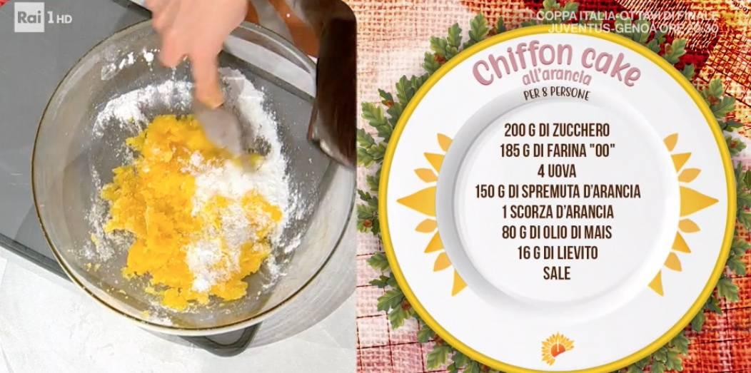 Chiffon cake di Francesca Marsetti, la ricetta della torta E' sempre mezzogiorno
