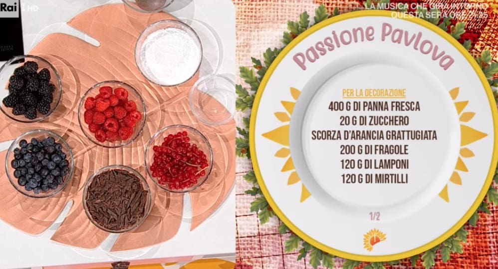 La torta afrodisiaca di Francesca Marsetti, ricetta pavlova e tante risate con Antonella Clerici
