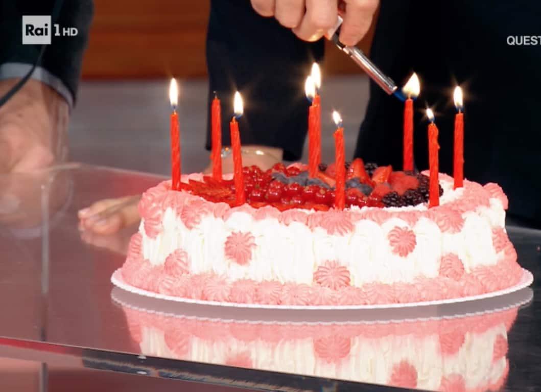 Katia Ricciarelli festeggia il compleanno in anticipo, a Domenica In senza scaramanzia (Foto)