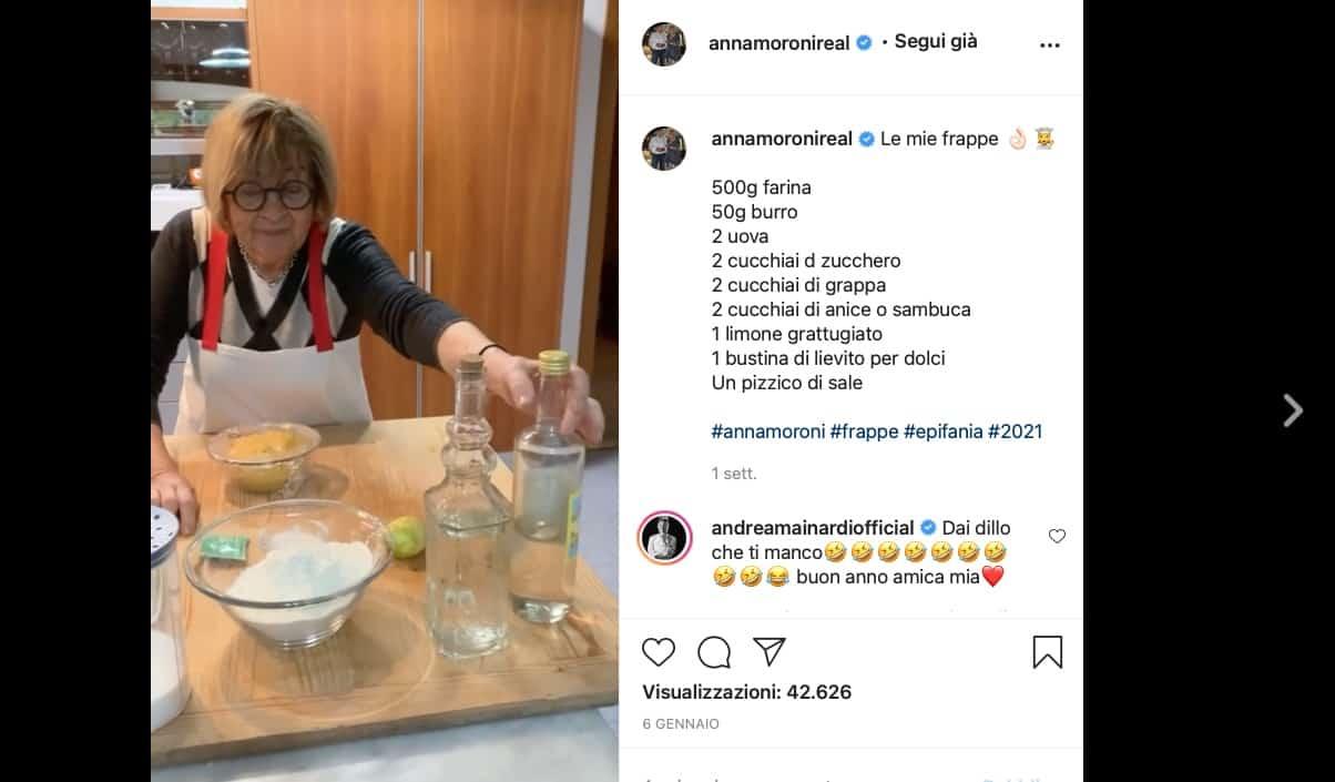 La ricetta delle frappe di Anna Moroni con tutti i consigli