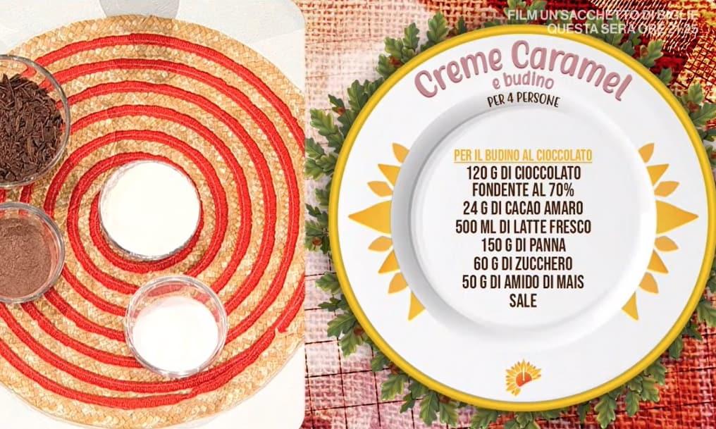 Creme caramel e budino al cioccolato di zia Cri per le ricette dolci E' sempre mezzogiorno
