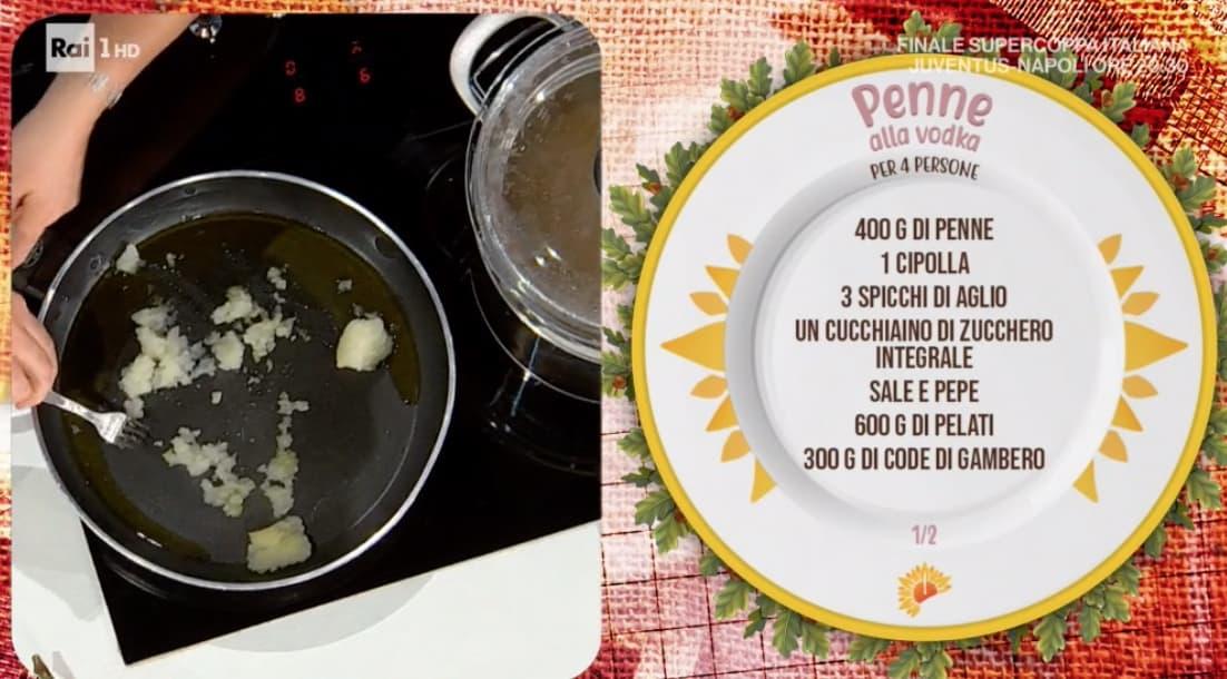 Penne alla vodka e Lorenzo Biagiarelli mostra gli anni '80 con la ricetta E' sempre mezzogiorno