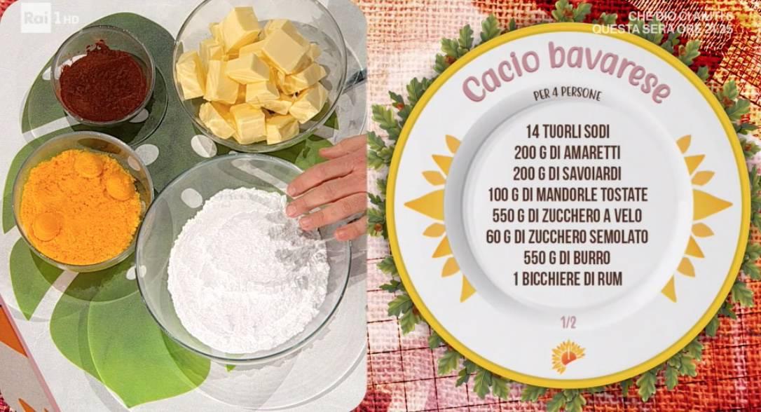 Cacio bavarese, la ricetta dolci di Daniele Persegani per E' sempre mezzogiorno
