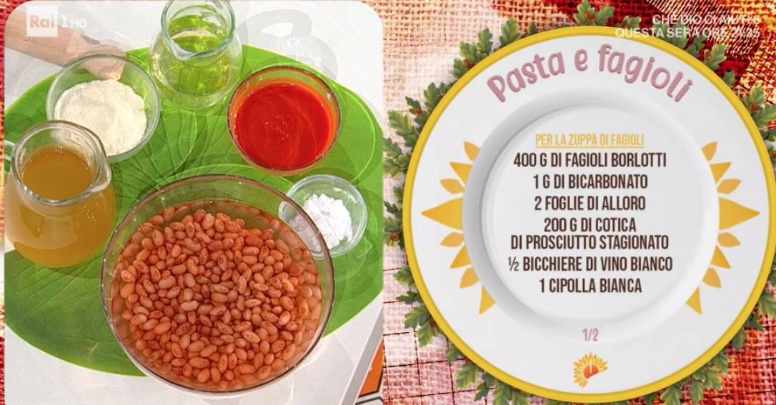 Pasta e fagioli di Gian Piero Fava, la ricetta E' sempre mezzogiorno