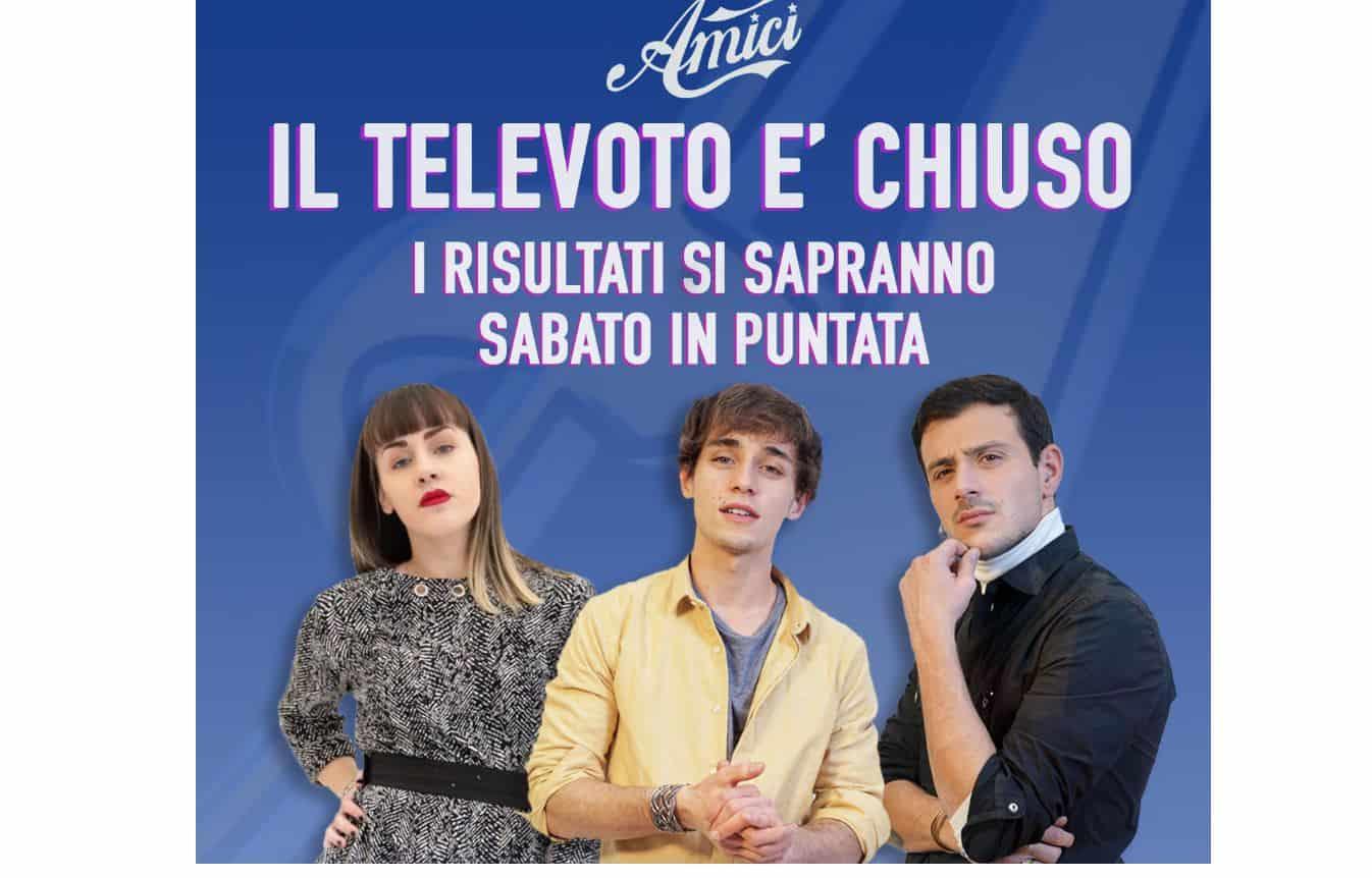 Amici 20 tre cantanti al televoto: Arianna, Leonardo ed Evandro rischiano il posto