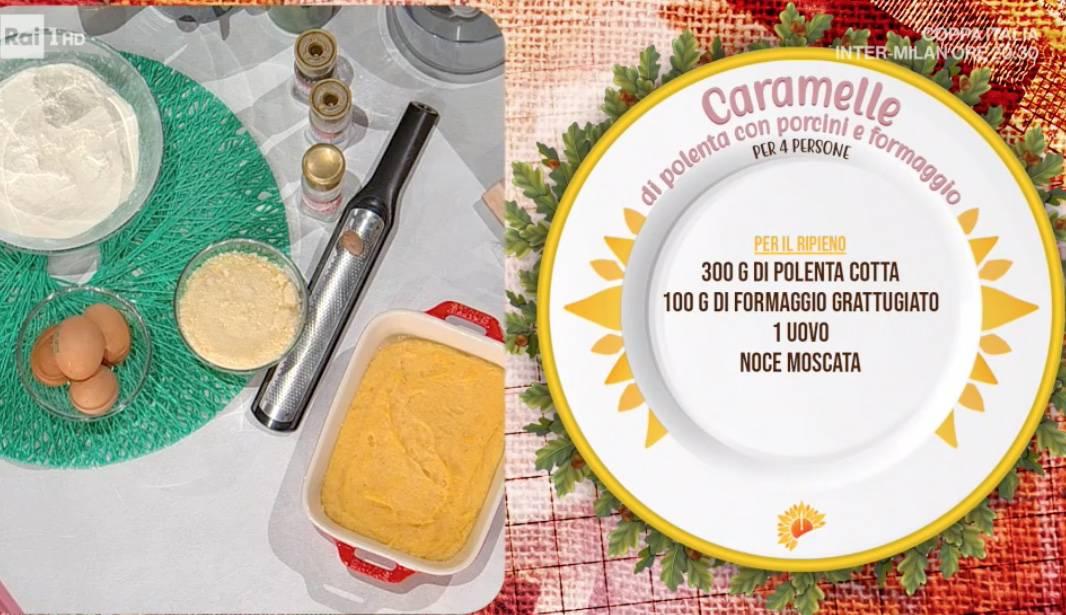 Caramelle di polenta con porcini e formaggi di Daniele Persegani, ricette E' sempre mezzogiorno