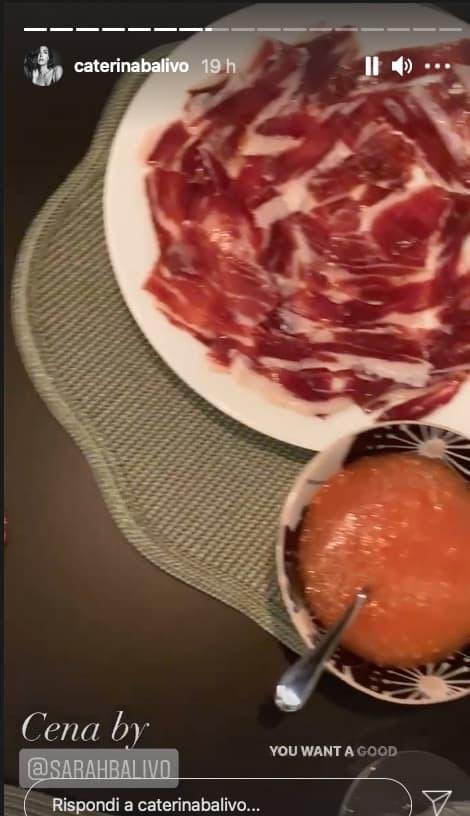 La cena di Caterina Balivo a casa della sorella dopo una giornata di lavoro (Foto)