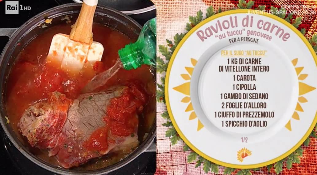 Ravioli di carne di Ivano Ricchebono, la ricetta genovese di E' sempre mezzogiorno