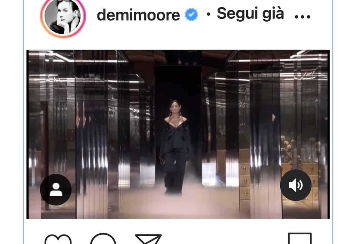 Demi Moore in passerella col volto trasformato: ritocchino o make up? (Foto)