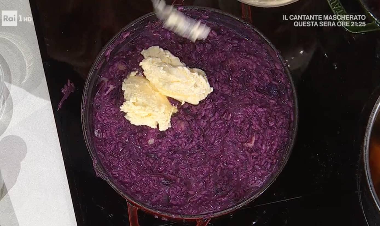 Risotto cappuccio viola e bonarda di Sergio Barzetti, la ricetta E' sempre mezzogiorno