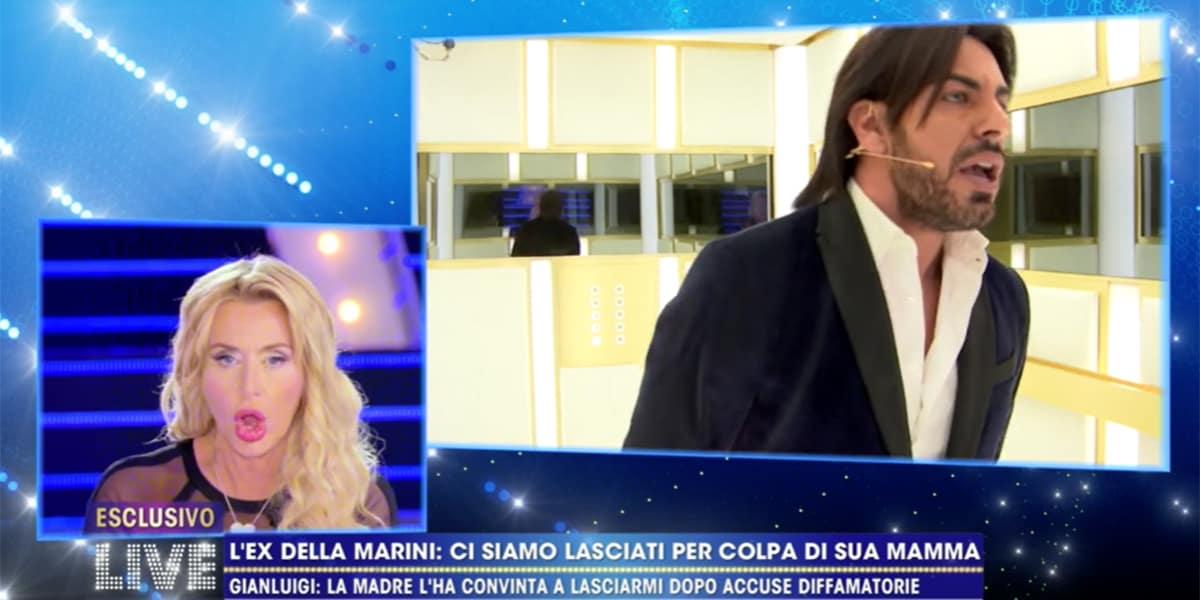 LIVE Non è La D'Urso: Valeria Marini scatena una  lite trash con l'ex Gianluigi Martino