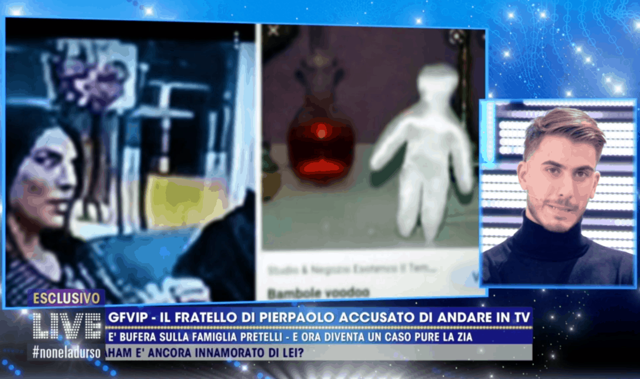 Giulio Pretelli torna in tv nonostante il divieto: la verità sulla bambola voodoo