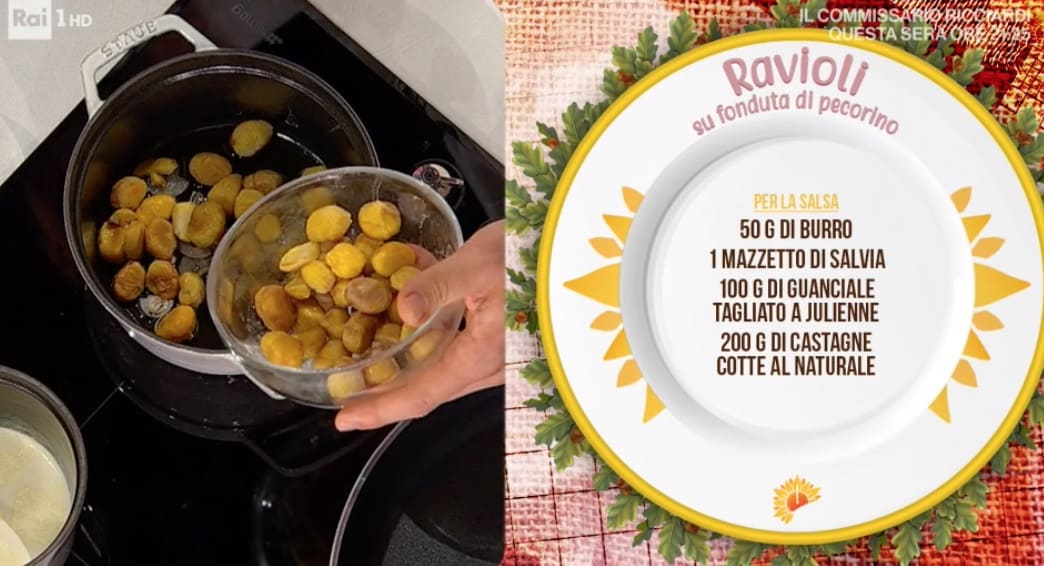 Ravioli su fonduta di pecorino, ricetta di Gian Piero Fava
