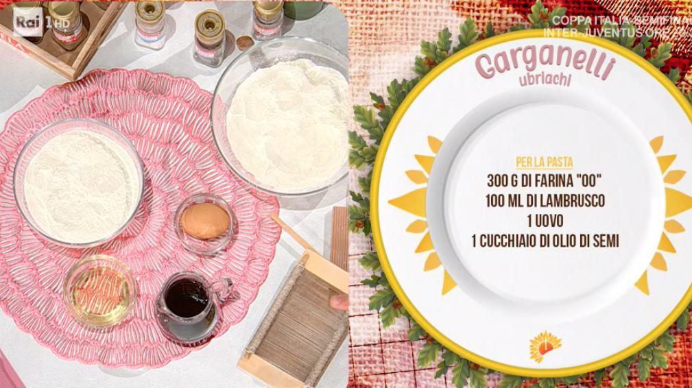La ricetta dei garganelli ubriachi di Daniele Persegani