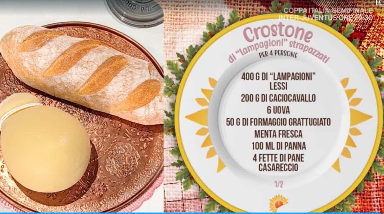 Ricetta crostone di lampagioni strapazzati di Antonella Ricci