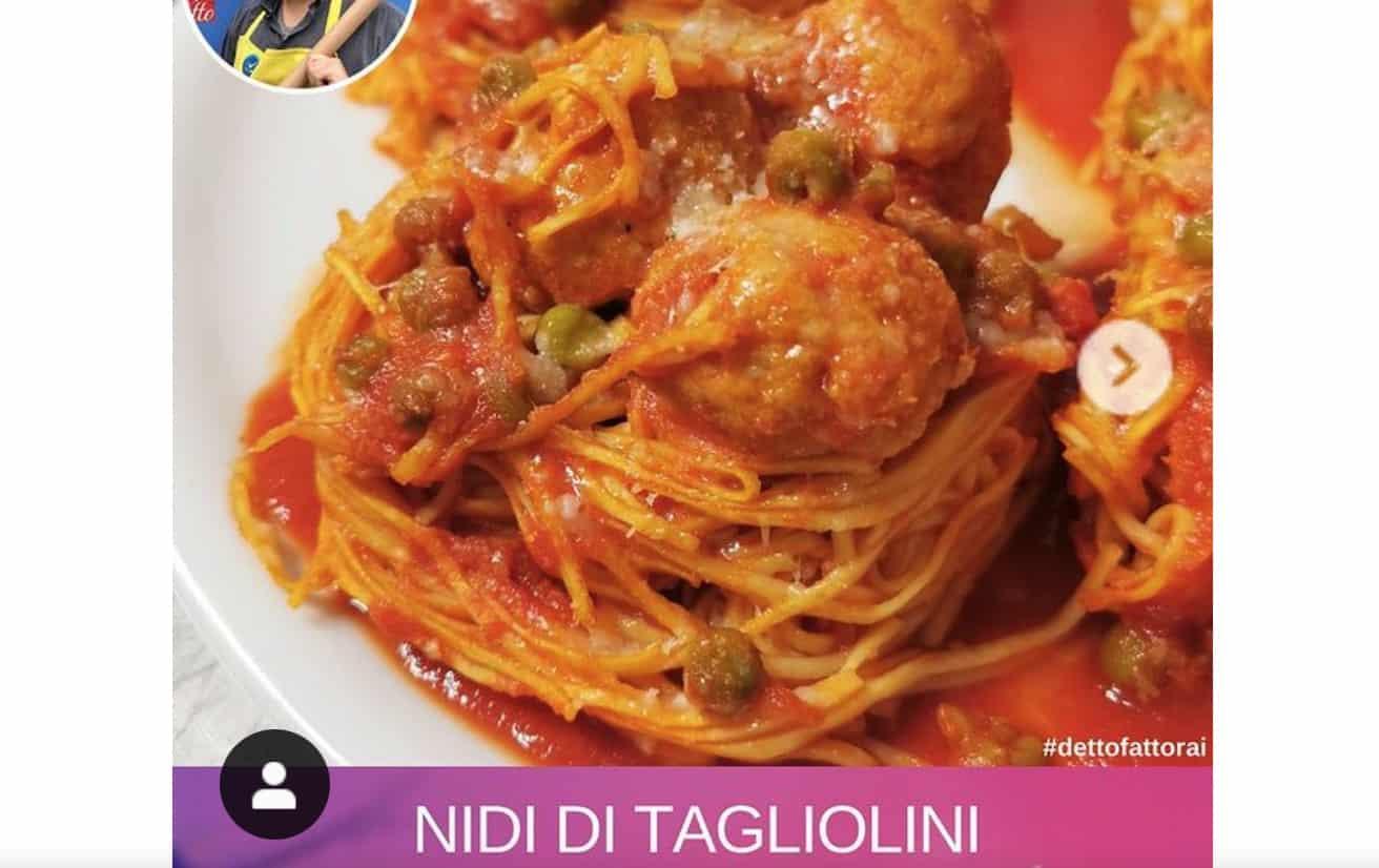 Nidi di tagliolini, la ricetta di Beniamino Baleotti
