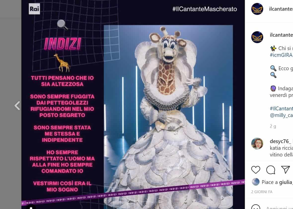 Il cantante mascherato 2 chi è giraffa: nomi e ipotesi