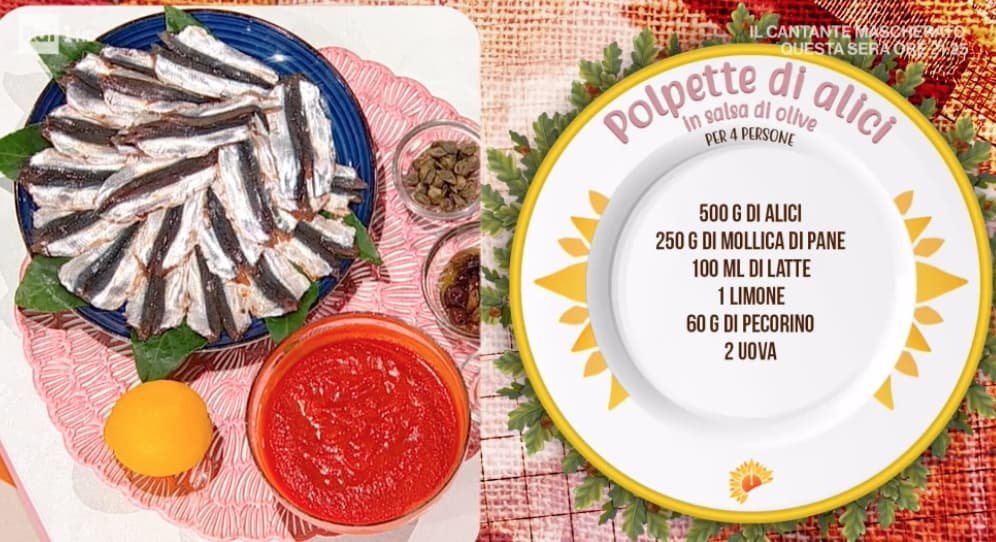 Polpette di alici in salsa di olive, la ricetta di Mattia e Mauro Improta