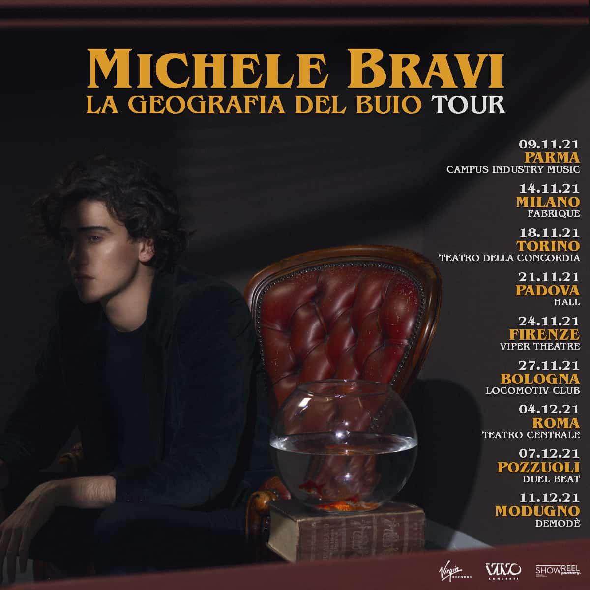 Michele Bravi annuncia il tour La Geografia del buio tour: tutte le date del 2021