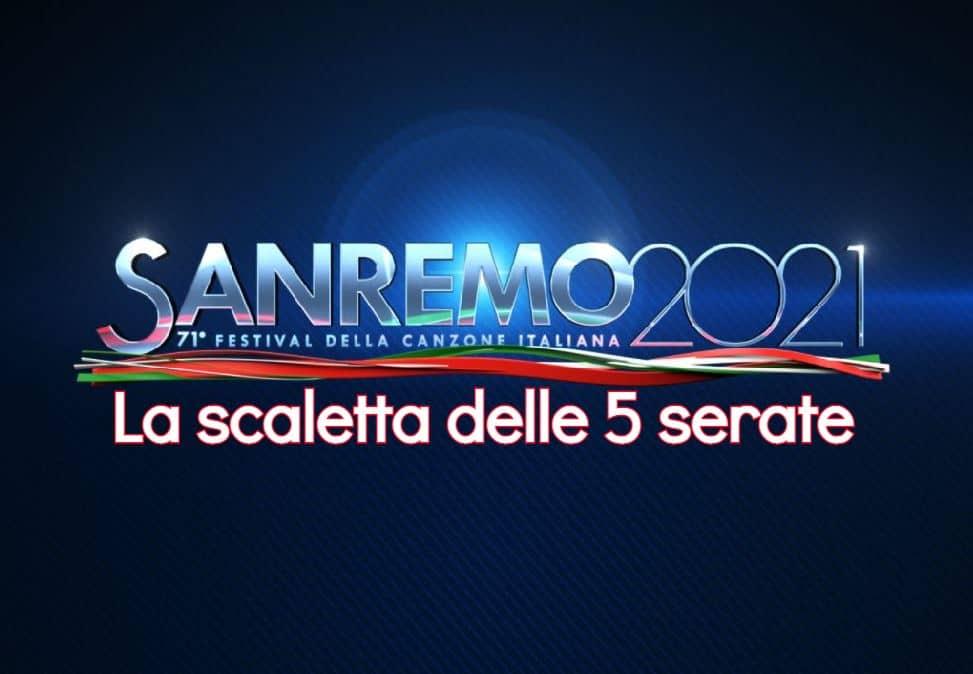 Sanremo 2021 la scaletta delle 5 serate del Festival