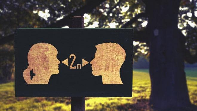 restrizioni covid-19, distanza sociale