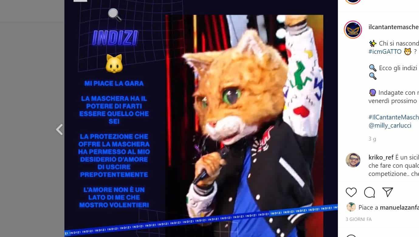 Il cantante mascherato 2 chi è gatto: mistero uomo donna, ma chi è?