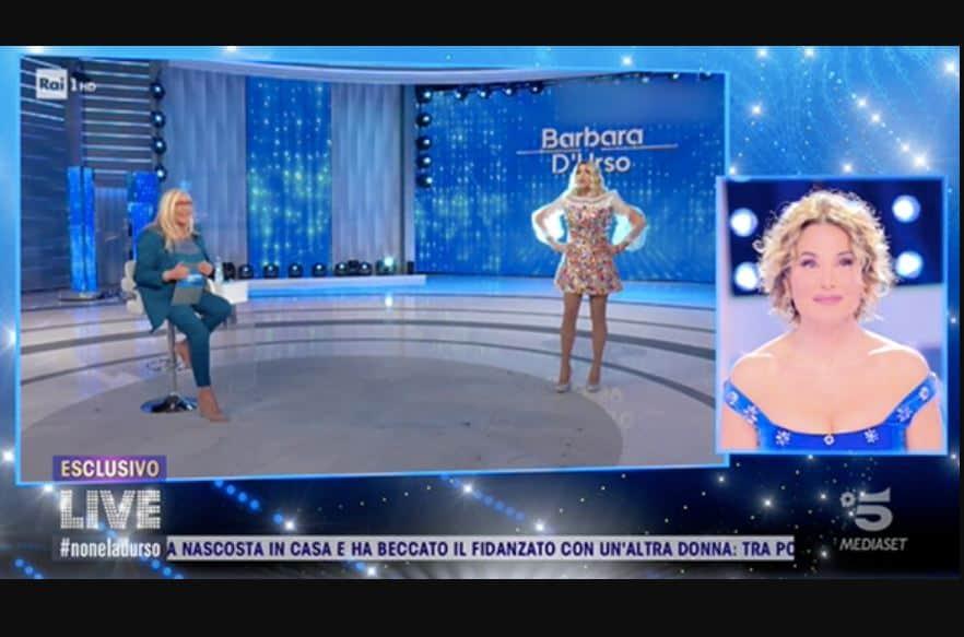Barbara d'Urso felice per le sue imitazioni in Rai le manda in onda a Live