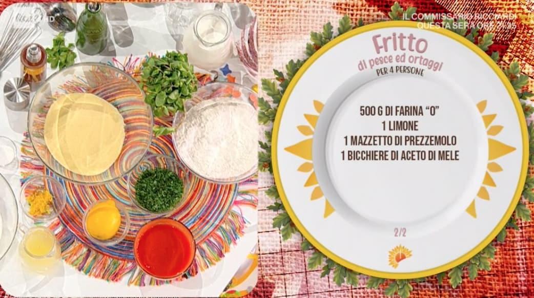 Fritto di pesce e ortaggi, la ricetta perfetta di Gian Piero Fava