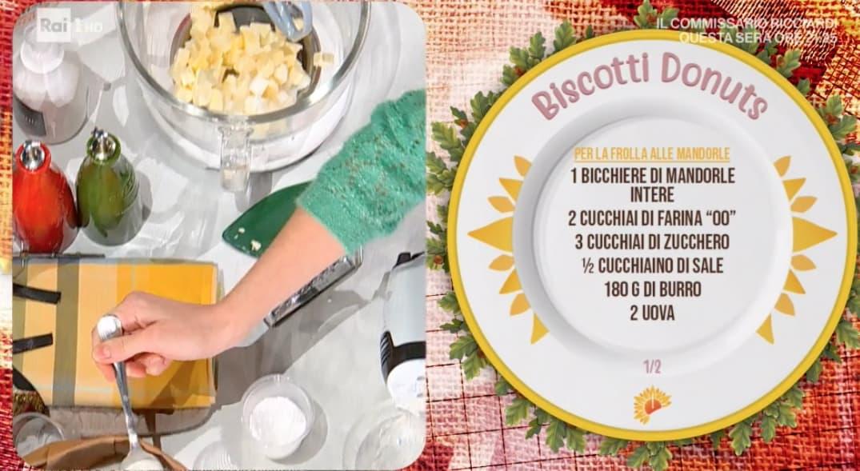 Biscotti donuts, la ricetta dolce di Sara Brancaccio