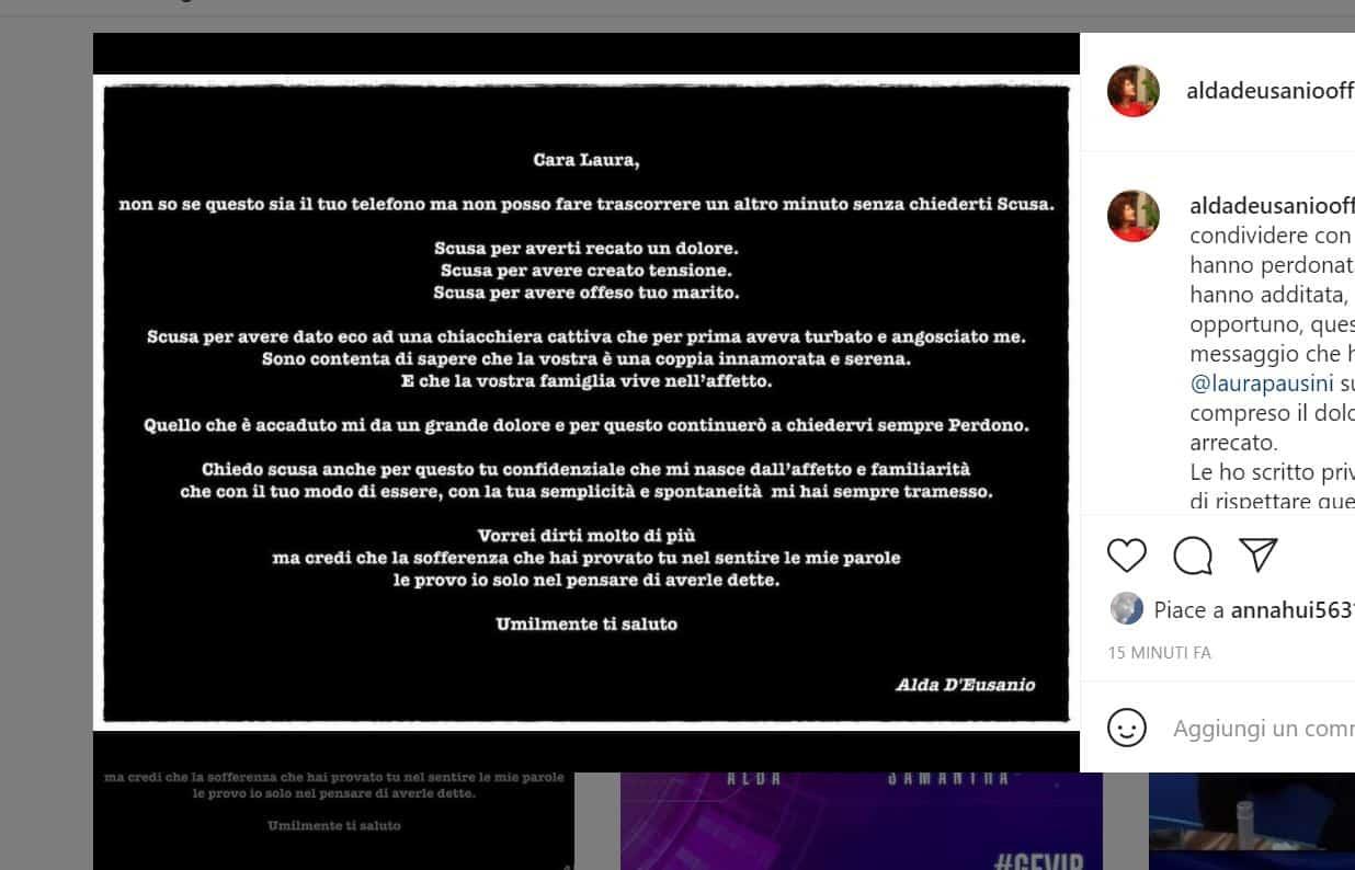 Alda d'Eusanio torna sui social per le scuse pubbliche a Laura Pausini