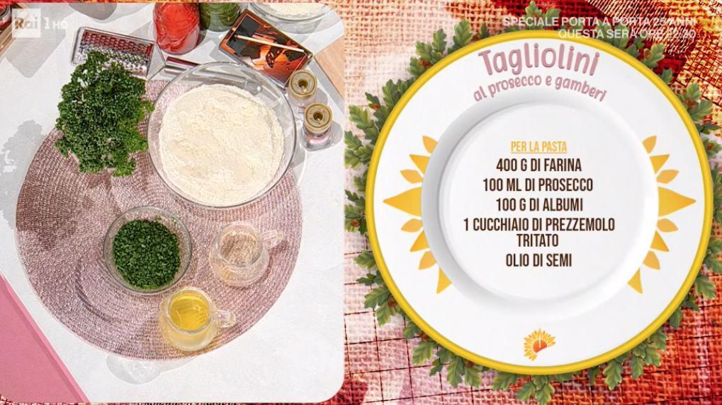 Tagliolini al prosecco e gamberi, la ricetta di Daniele Persegani