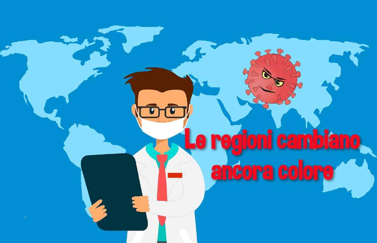 Dal 21 febbraio 2021 le regioni cambiano di nuovo colore: forse una regione in zona bianca