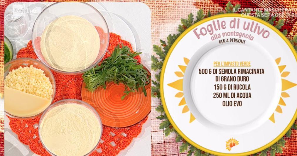 Foglie di ulivo alla montagnola, la ricetta della pasta speciale di Carmine