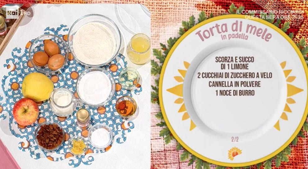 Torta di mele in padella, la ricetta di Natalia Cattelani