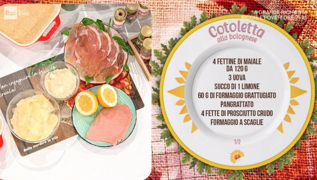 Cotolette alla bolognese con contorno di finocchi e piselli, ricette di Zia Cri
