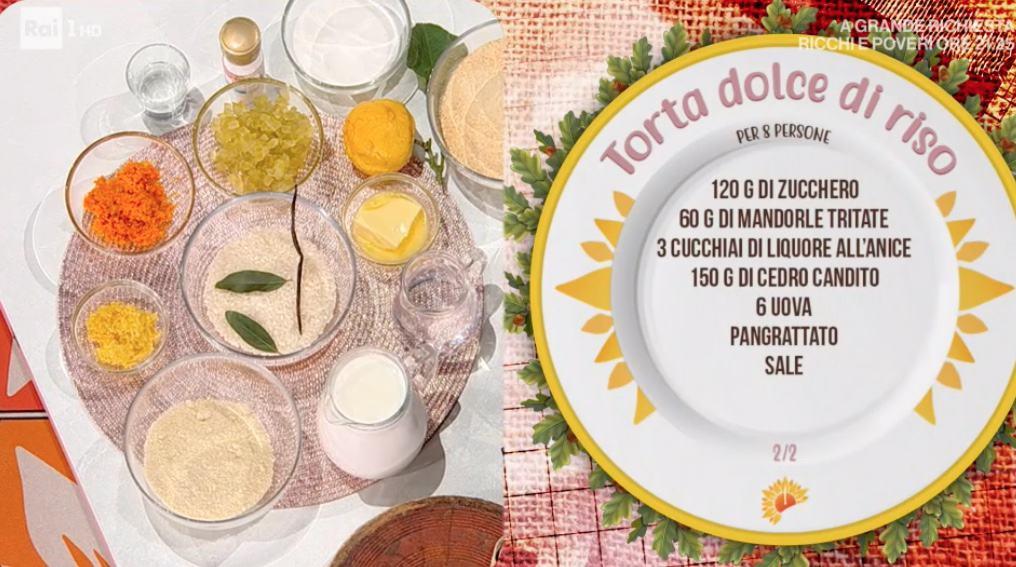 Torta dolce di riso, la ricetta di Sergio Barzetti