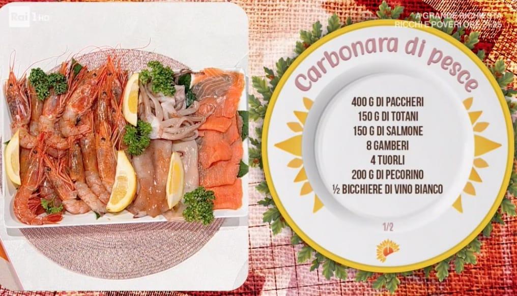 Carbonara di pesce, la ricetta di Simone Buzzi