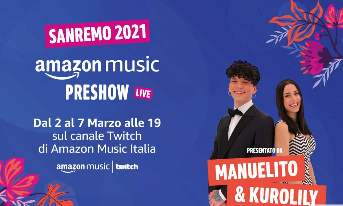 Amazon e Sanremo 2021: dall'Amazon Music PreShow alle pagelle di Alexa