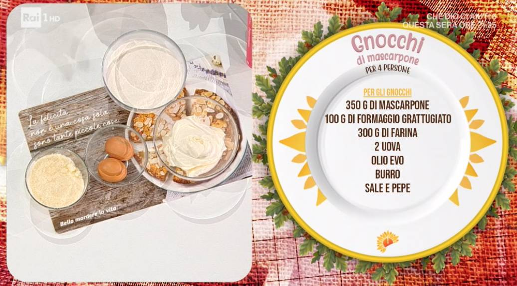 La ricetta degli gnocchi di mascarpone di Zia Cri