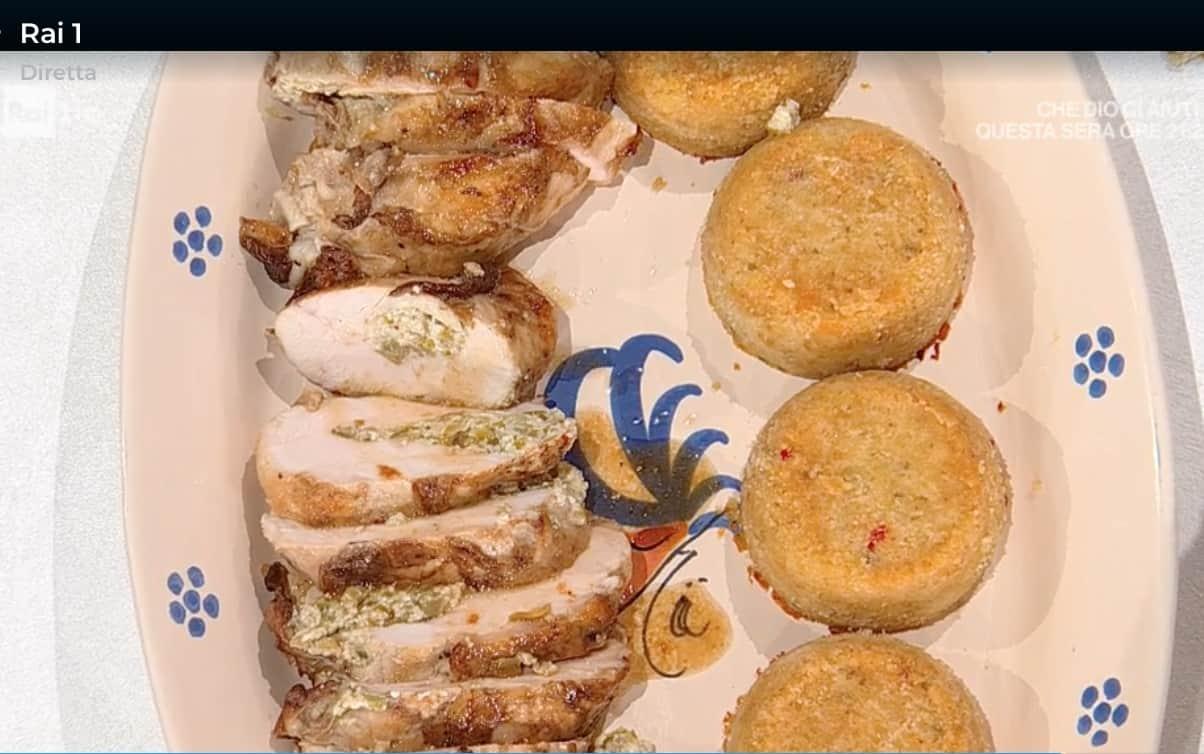 Valigini di pollo ai carciofi con tortini di patate, la ricetta di Daniele Persegani