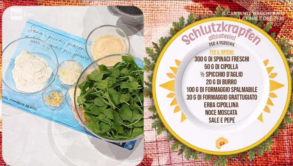 Ravioli altoatesini ripieni di formaggio e spinaci: ricette Barbara De Nigris