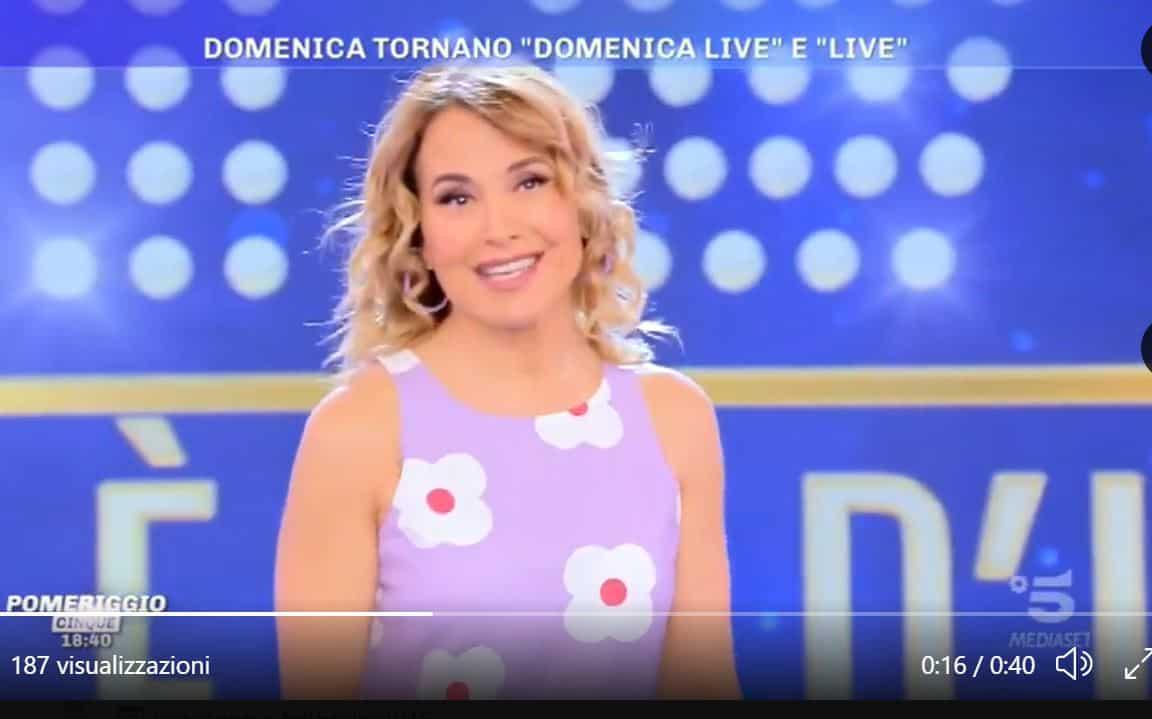 """Barbara d'Urso sarcastica da Pomeriggio 5: """"Le mie trasmissioni sono amatissime e di lunghissima vita"""""""