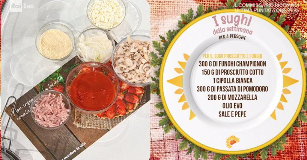 Zia Cri, le ricette dei sughi della settimana per guardare Sanremo
