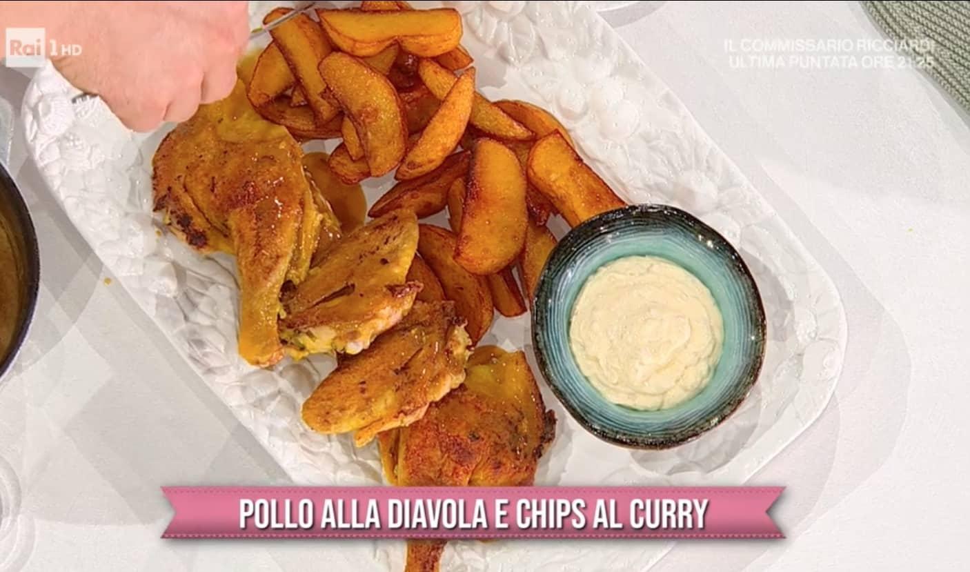 Pollo alla diavola e chips al curry, la ricetta di Gian Piero Fava