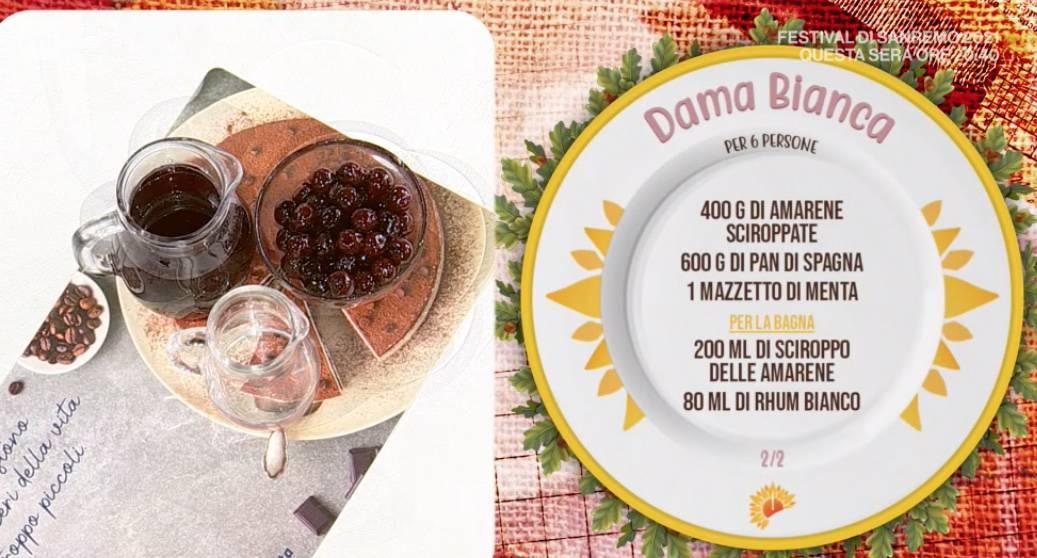 Dama bianca, la ricetta dolce di Zia Cri con panna e mascarpone