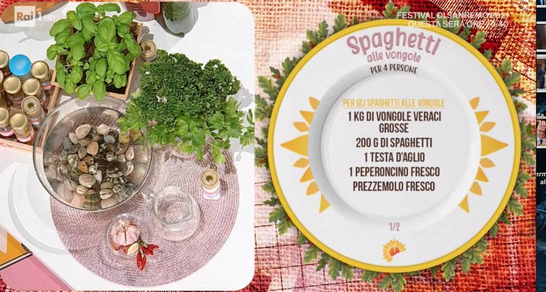 Spaghetti alle vongole e zuppetta di vongole, le ricette di Roberto Di Pinto